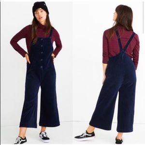 NEW Madewell Texture & Thread corduroy overalls